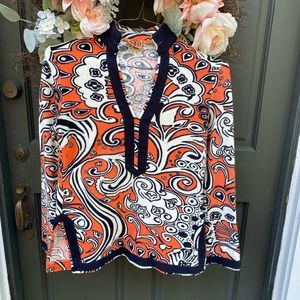 Tory Burch Terry Tunic Gorgeous Colors size XS
